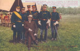 The Secretary of War, and Maj. Gen. F.D. Grant, U.S.A. and Staff, Photographed at Ft. Sheridan in...
