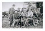 "Some of Btry ""D"" 3rd Field Artillery Non Coms on Custer Hike 1934."