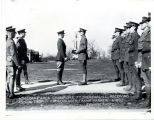 6th Corps Area Champions, Ft. Sheridan, ILL. Receiving Annual Trophy from Maj. Gen. Frank Parker. ...